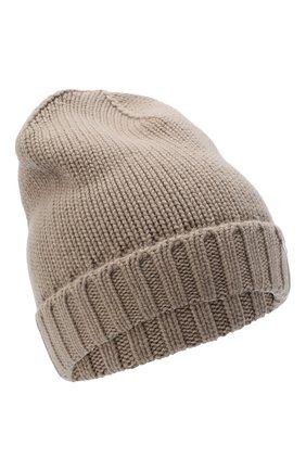 Женский кашемировая шапка MOORER бежевого цвета, арт. BERRETT0 F0R HER-CWS/A20MA11CASH | Фото 1