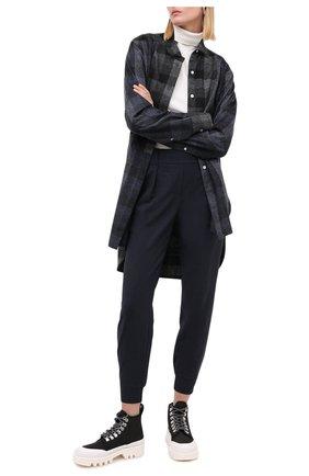 Женские шерстяные джоггеры LORENA ANTONIAZZI темно-синего цвета, арт. A2037PA022/2147   Фото 2