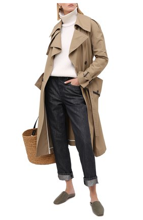 Женские джинсы BRUNELLO CUCINELLI темно-серого цвета, арт. MA176P5611 | Фото 2