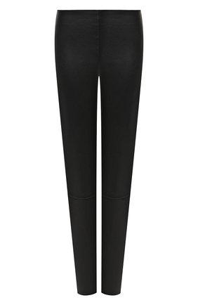 Женские кожаные леггинсы KITON черного цвета, арт. D50171X05S03 | Фото 1
