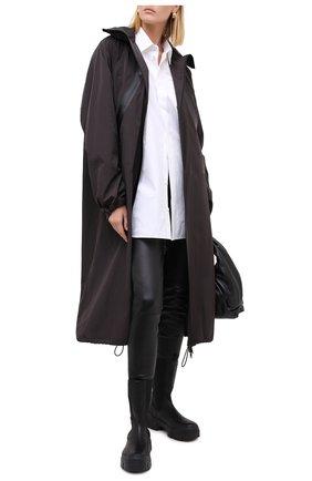 Женские кожаные леггинсы KITON черного цвета, арт. D50171X05S03 | Фото 2