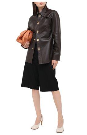 Женская кожаная рубашка BOTTEGA VENETA коричневого цвета, арт. 630720/VKV90 | Фото 2