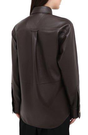 Женская кожаная рубашка BOTTEGA VENETA коричневого цвета, арт. 630720/VKV90 | Фото 4