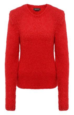 Женский шерстяной свитер ISABEL MARANT красного цвета, арт. PU1385-20A041I/ERIN | Фото 1
