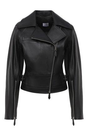 Женская кожаная куртка BURBERRY черного цвета, арт. 8031161 | Фото 1