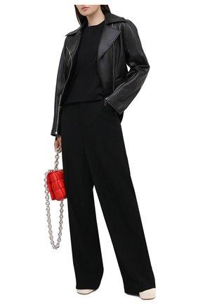 Женская кожаная куртка BURBERRY черного цвета, арт. 8031161 | Фото 2