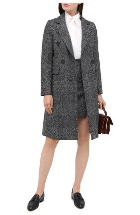 Женское шерстяное пальто LORENA ANTONIAZZI черного цвета, арт. A2009CP037/3296   Фото 2