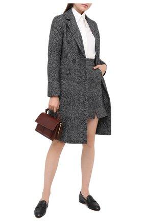 Женская шерстяная юбка LORENA ANTONIAZZI черного цвета, арт. A2009G0015/3296   Фото 2