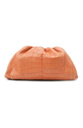 Женский клатч pouch из кожи аллигатора BOTTEGA VENETA бежевого цвета, арт. 576227/VCPX0/AMIS | Фото 1