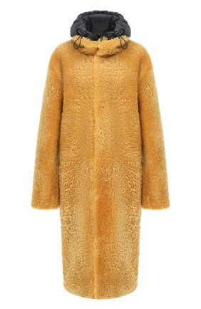 Женская шуба из овчины BOTTEGA VENETA желтого цвета, арт. 630407/VKV70 | Фото 1