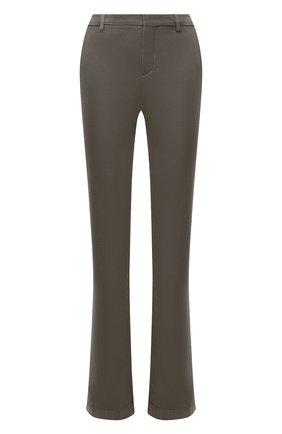 Женские хлопковые брюки LORO PIANA хаки цвета, арт. FAL3133 | Фото 1