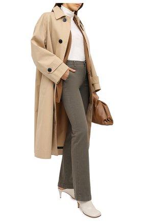 Женские хлопковые брюки LORO PIANA хаки цвета, арт. FAL3133 | Фото 2