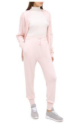 Женские текстильные кроссовки KITON светло-серого цвета, арт. DSSFITSN00810 | Фото 2 (Материал внутренний: Натуральная кожа; Материал внешний: Текстиль; Подошва: Платформа)