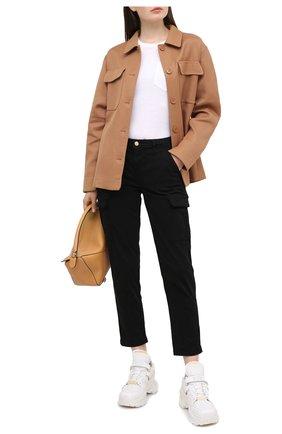 Женские брюки 7 FOR ALL MANKIND черного цвета, арт. JSL3X190BL | Фото 2