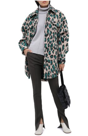Женский кашемировый свитер LORENA ANTONIAZZI светло-серого цвета, арт. A20120FM018/117 | Фото 2