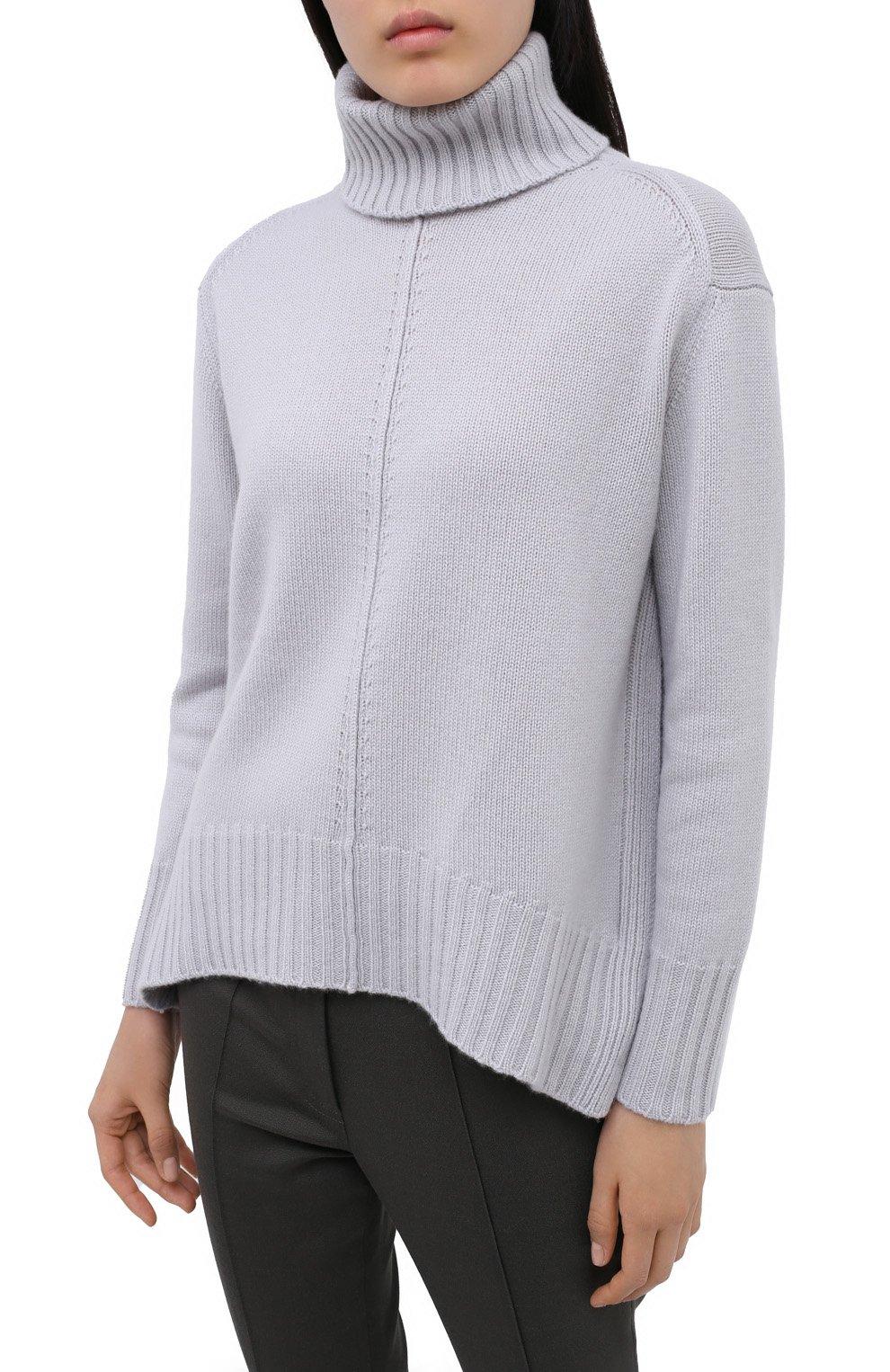 Женский кашемировый свитер LORENA ANTONIAZZI светло-серого цвета, арт. A20120FM018/117 | Фото 3