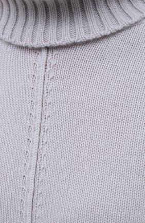 Женский кашемировый свитер LORENA ANTONIAZZI светло-серого цвета, арт. A20120FM018/117 | Фото 5