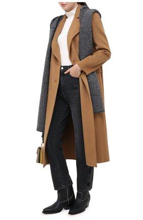 Мужские шарф LORENA ANTONIAZZI темно-синего цвета, арт. A20153SP015/204   Фото 2