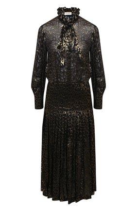 Женское платье SAINT LAURENT леопардового цвета, арт. 632448/Y725V | Фото 1
