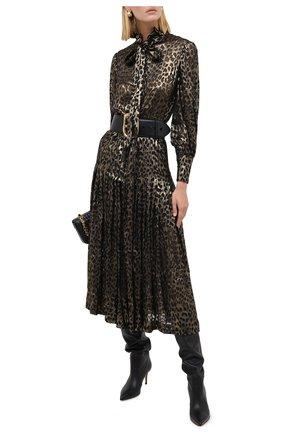 Женское платье SAINT LAURENT леопардового цвета, арт. 632448/Y725V | Фото 2