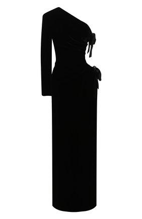 Женское платье SAINT LAURENT черного цвета, арт. 631479/Y525R   Фото 1