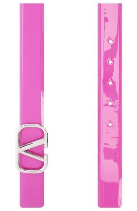 Женский кожаный ремень valentino garavani VALENTINO розового цвета, арт. UW2T0T15/CJG   Фото 2