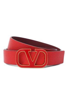 Женский кожаный ремень valentino garavani VALENTINO красного цвета, арт. UW2T0T15/ACY   Фото 1