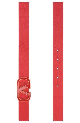 Женский кожаный ремень valentino garavani VALENTINO красного цвета, арт. UW2T0T15/ACY   Фото 2