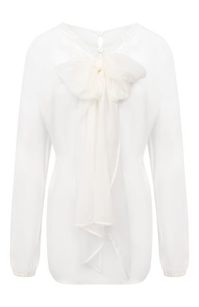 Женская шелковая блузка VALENTINO кремвого цвета, арт. UB3AE4X72UP | Фото 1
