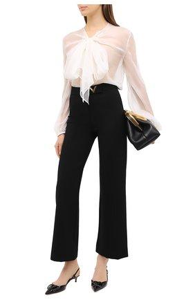 Женская шелковая блузка VALENTINO кремвого цвета, арт. UB3AE4X72UP | Фото 2