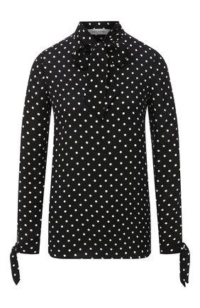 Женская шелковая блузка VALENTINO черно-белого цвета, арт. UB3AE5135LN | Фото 1