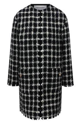 Женское пальто VALENTINO черно-белого цвета, арт. UB3CA5505LC | Фото 1