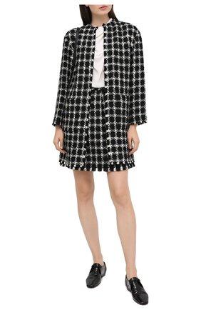 Женское пальто VALENTINO черно-белого цвета, арт. UB3CA5505LC | Фото 2
