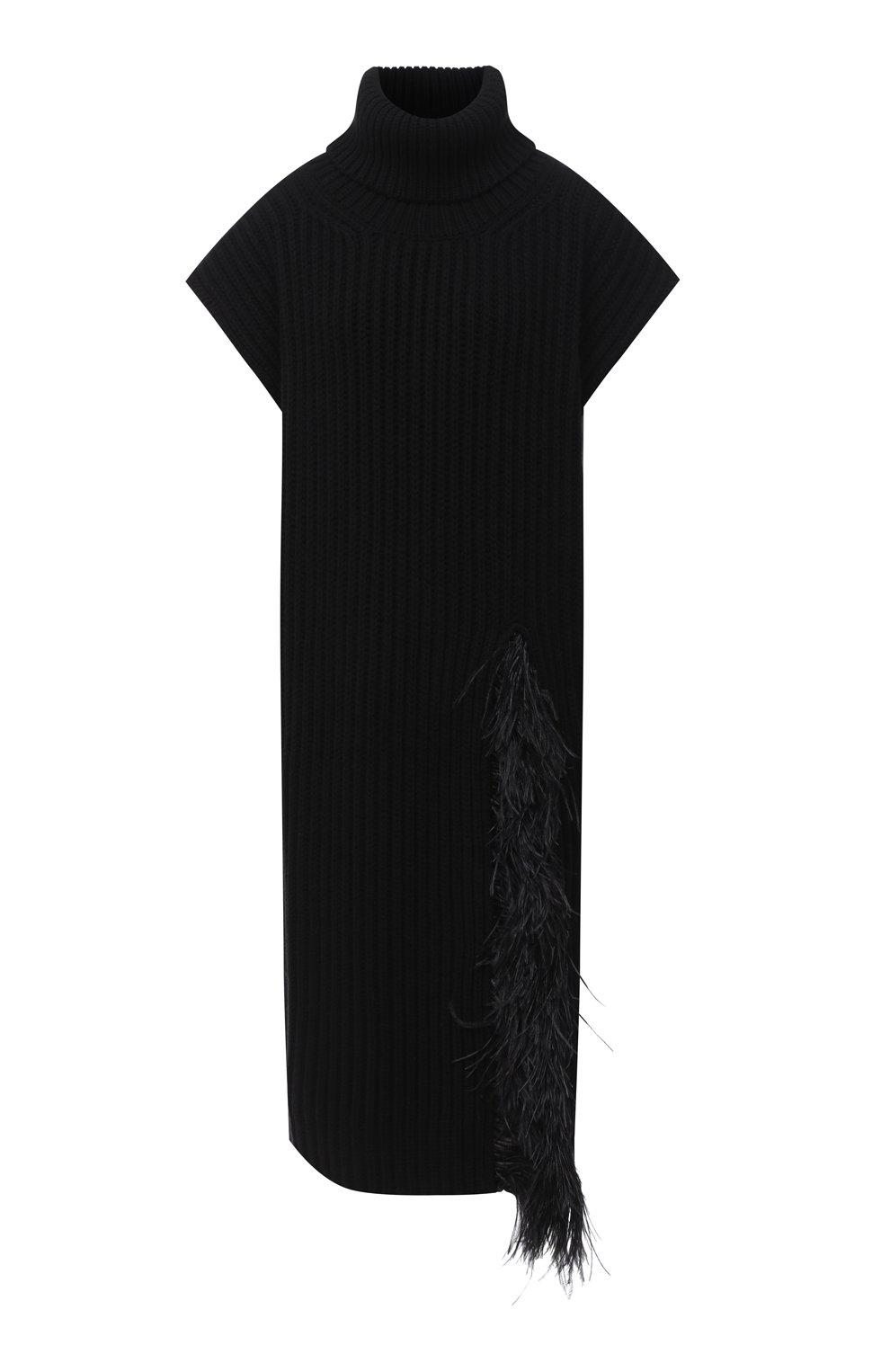 Женский жилет из шерсти и кашемира VALENTINO черного цвета, арт. UB3KCB495QK | Фото 1