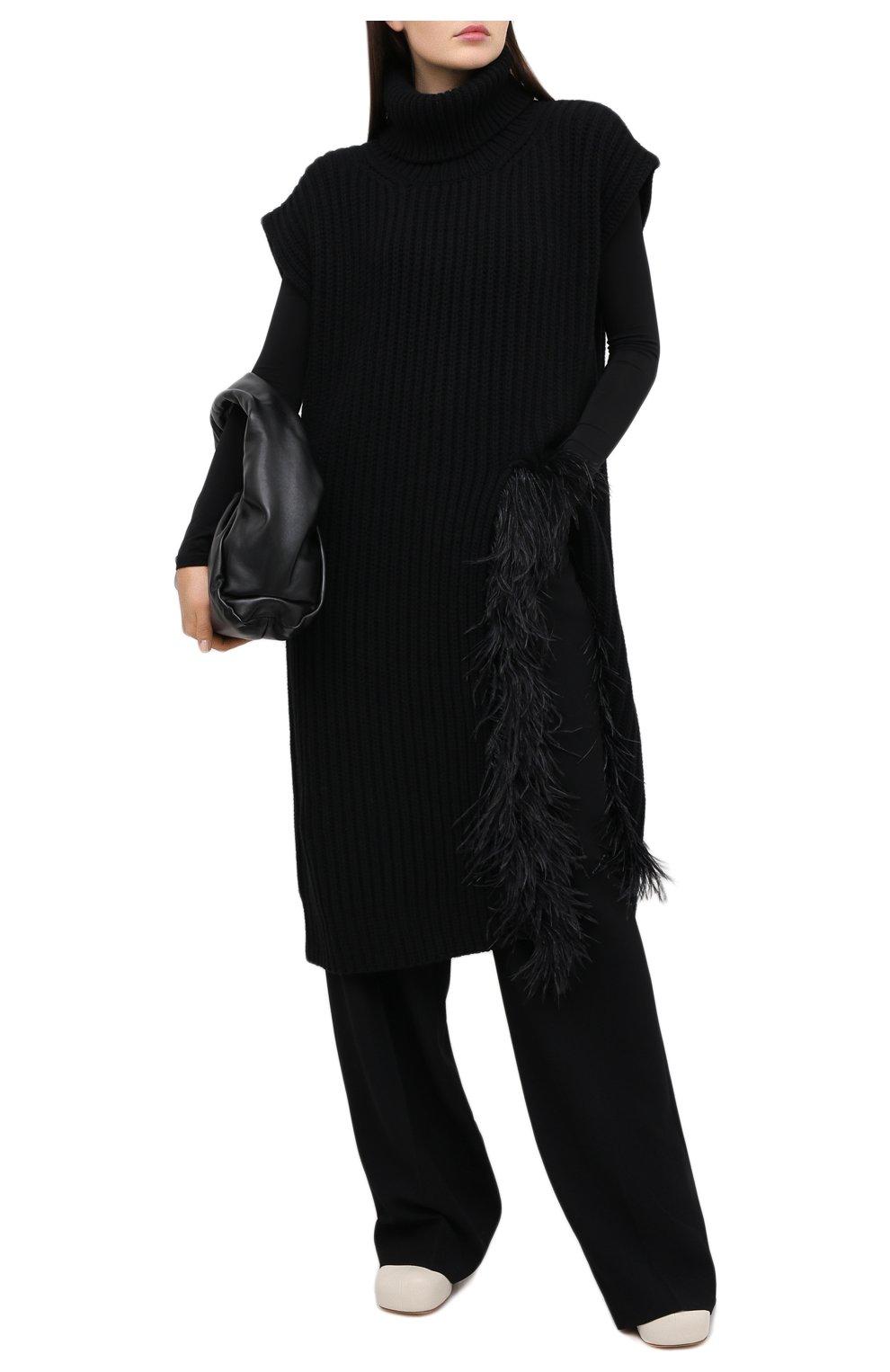 Женский жилет из шерсти и кашемира VALENTINO черного цвета, арт. UB3KCB495QK | Фото 2