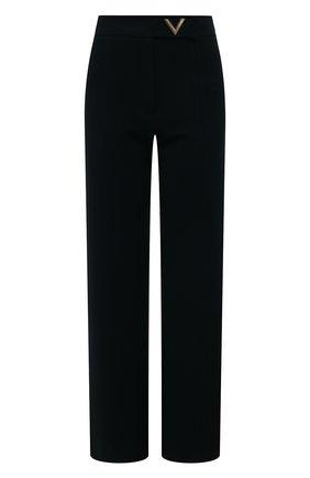 Женские брюки из вискозы VALENTINO черного цвета, арт. UB3MD01L58K | Фото 1