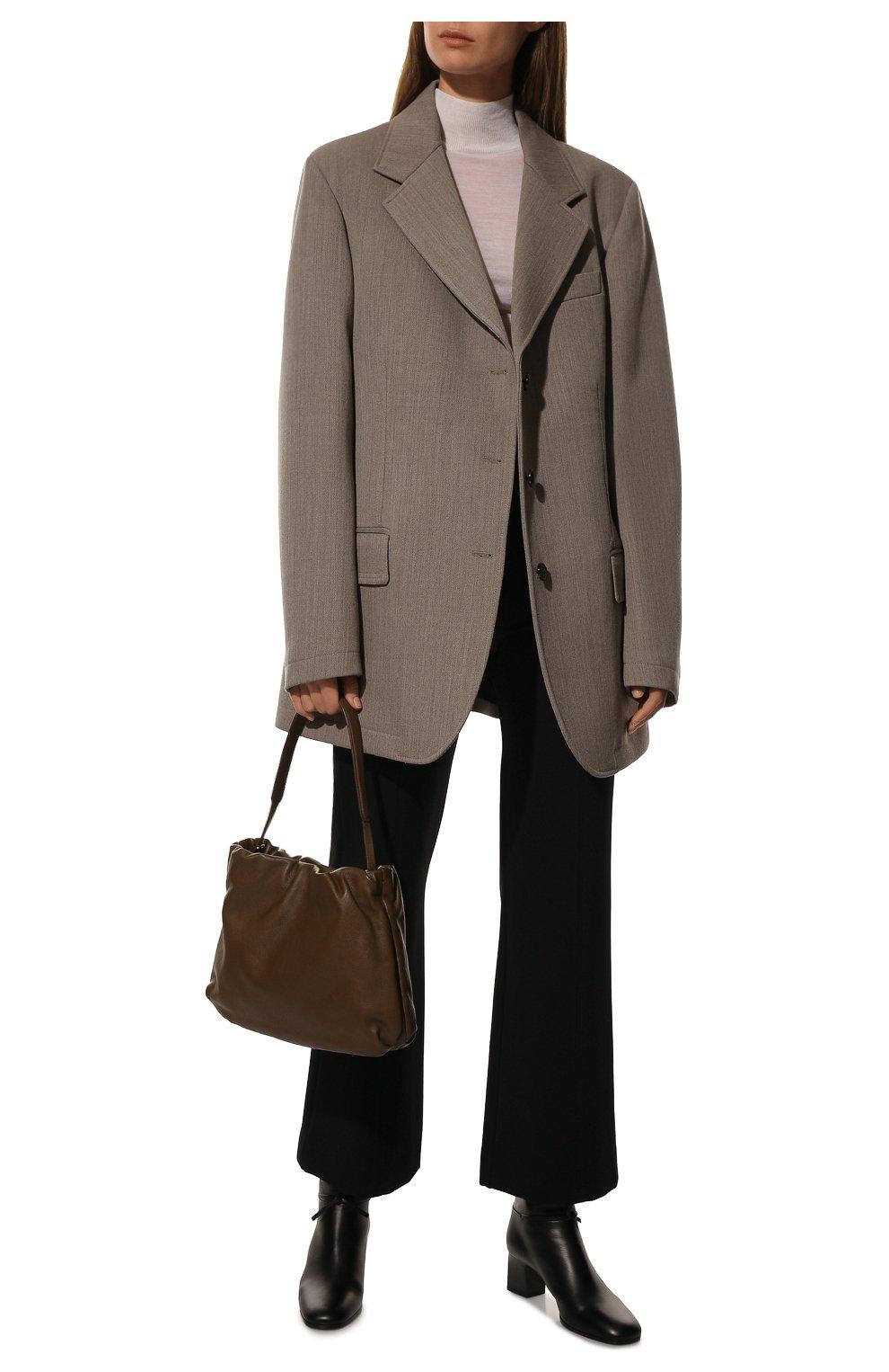Женские брюки из вискозы VALENTINO черного цвета, арт. UB3MD01L58K | Фото 2
