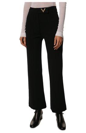 Женские брюки из вискозы VALENTINO черного цвета, арт. UB3MD01L58K | Фото 3