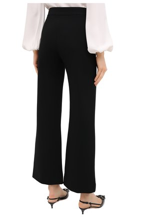 Женские брюки из вискозы VALENTINO черного цвета, арт. UB3MD01L58K | Фото 4
