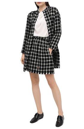 Женская юбка VALENTINO черно-белого цвета, арт. UB3RA6875LC | Фото 2