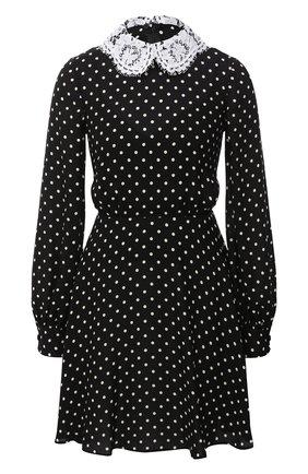 Женское шелковое платье VALENTINO черно-белого цвета, арт. UB3VATL05LN | Фото 1