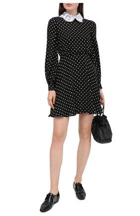 Женское шелковое платье VALENTINO черно-белого цвета, арт. UB3VATL05LN | Фото 2