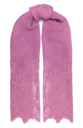 Женская кашемировый шарф valentino garavani VALENTINO розового цвета, арт. UW2EE379/CTZ | Фото 1