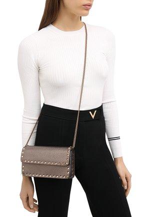 Женская сумка valentino garavani rockstud VALENTINO бронзового цвета, арт. UW2P0S61/LVK | Фото 2