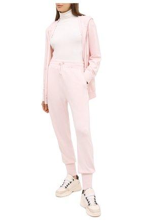 Женский кардиган из кашемира шелка JIL SANDER розового цвета, арт. JPPR751500-WRY11028 | Фото 2