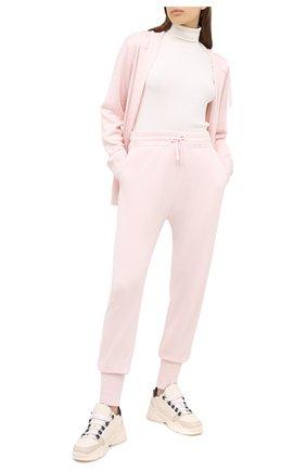 Женские джоггеры из кашемира и шелка JIL SANDER розового цвета, арт. JPPR751502-WRY11028 | Фото 2