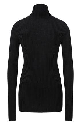 Женская водолазка из шерсти и шелка JIL SANDER черного цвета, арт. JPPR754509-WRY21078 | Фото 1