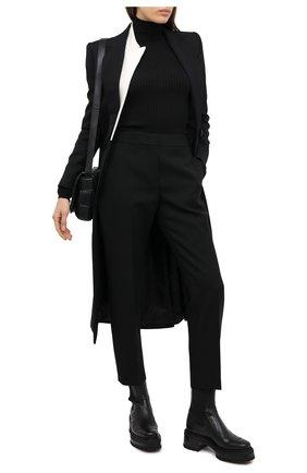 Женская водолазка из шерсти и шелка JIL SANDER черного цвета, арт. JPPR754509-WRY21078 | Фото 2