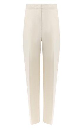 Женские хлопковое брюки JIL SANDER светло-бежевого цвета, арт. JSCR301805-WR241700 | Фото 1