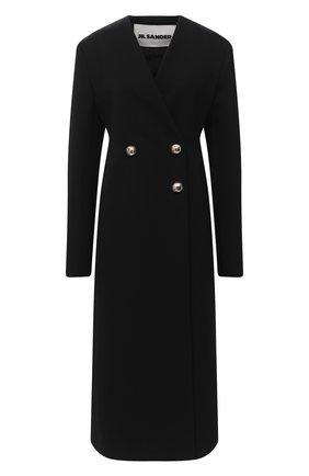 Женское шерстяное пальто JIL SANDER черного цвета, арт. JSPR121811-WR20230F | Фото 1